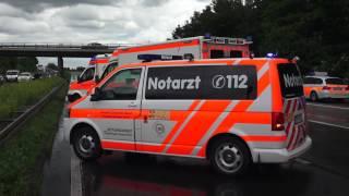 Schwerer Verkehrsunfall A 3 bei Breckenheim am Montag, 13. Juni 2016, - 2 Tote / 2 Schwerverletzte