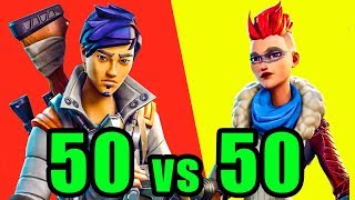 50v50 Mode! ⚡️ Fortnite BR New Update 50 vs 50 Gameplay