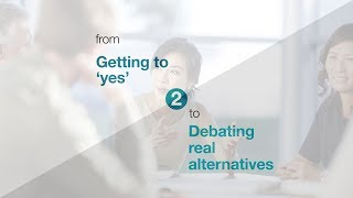8 Shifts to Unlock Strategy. Shift 2: From ″Getting to 'yes'″, to ″Debating real alternatives″