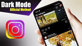 Dark mode on Instagram Android Official Method!