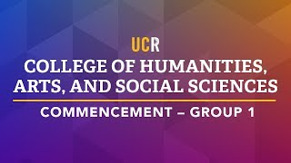 UCR Commencement Ceremony - CHASS 1