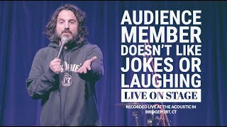 Audience member doesn't like Jokes | Stand Up Comedy | Mike Falzone