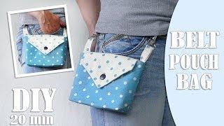 DIY BELT POUCH BAG TUTORIAL // 20 Min Cut & Sew Comfort Purse Bag