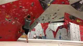 V5 fail on my first day of rock climbing
