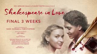 SHAKESPEARE IN LOVE - MUST CLOSE 6 OCTOBER - THE FUGARD THEATRE