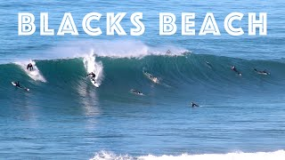 Surfing at Blacks Beach (5-8 Feet, Good Conditions)
