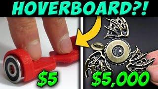 $5 FIDGET SPINNER Vs. $5000 FIDGET SPINNER! (Ultimate Floating Fidget Toy Vs Crazy Fidget Spinner)