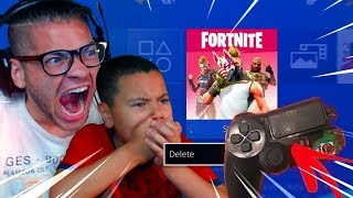 THIS MADE MINDOFREZ RAGE AND *DELETE* FORTNITE AND *DESTROY* HIS PS4 CONTROLLER (FUNNY!) 😂😡