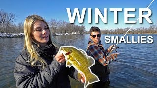 Epic Winter Smallmouth Bass!! (Special Guest)