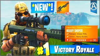 NEW ″HEAVY SNIPER″ Gameplay UPDATE! (Fortnite Battle Royale ″Weapon UPDATE″)