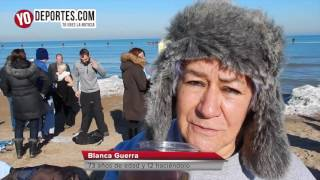 Chicago polar plunge 2017 January 1th North Beach, Chicago IL