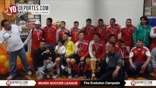 Fire Evolution campeón de Mundi Soccer League