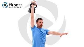 45 Minute Total Body Kettlebell Workout - Fun and Tough Kettlebell Routine