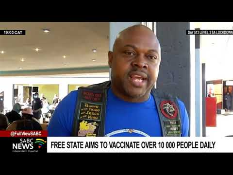 Free State Health department on a drive to vaccinate 10 000 people a day