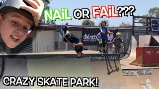 7 YEAR OLD going down a MEGA RAMP!!! Dangerboyz go to CRAZY SKATE PARK