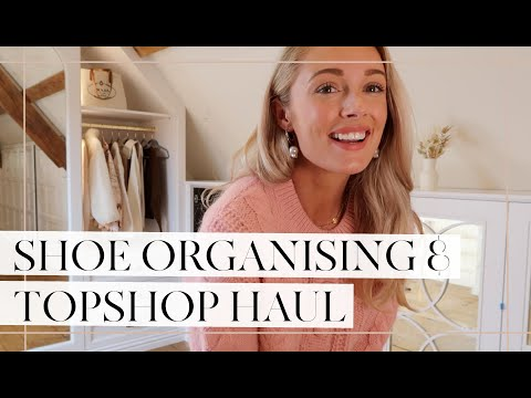 ORGANISING MY SHOE COLLECTION & TOPSHOP HAUL + TRY ON // Fashion Mumblr Vlogs AD