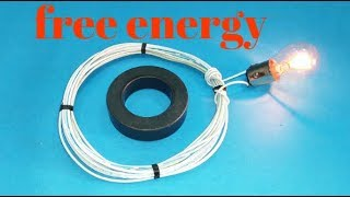 get free energy with magnet and copper wair new ideas new technology exhibition