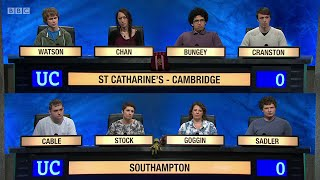 University Challenge S45E11 - St Catharine's college, Cambridge vs University of Southampton