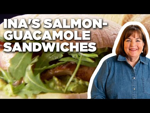Ina Garten's Salmon and Guacamole Sandwiches | Barefoot Contessa | Food Network
