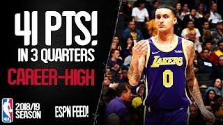 Kyle Kuzma Career-High 41 Points vs Detroit Pistons - Full Highlights 09/01/2019