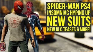 Spider Man PS4 Update Delayed, Insomniac HYPES UP DLC SUITS & More! (Spiderman PS4 DLC Suits)