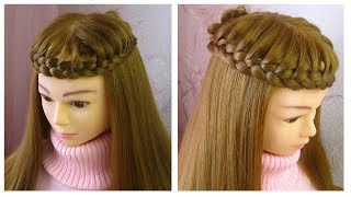 Tuto coiffure simple et rapide ✨ Tresse couronne ✨ facile à faire ✨ Crown braid tutorial