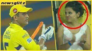 Dhoni's Wife Sakshi Reaction On His Batting In Chepauk   CSK Vs KKR Hilights   IPL 2018
