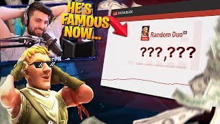 Random Duo With A *FAMOUS* r!? He's Famous! (Fortnite Battle Royale)