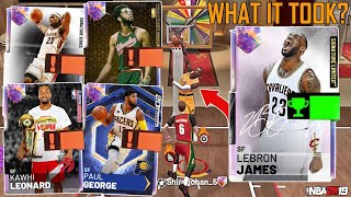 WHAT IT TOOK TO GET 1 OF 236 LIMITED LEBRON JAMES + TRIPLE THREAT GAMEPLAY! (NBA 2K19 MYTEAM)
