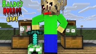 Monster School: BALDI'S HORROR GAME CHALLENGE - Minecraft Animation
