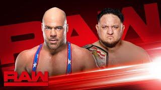 Kurt Angle to battle Samoa Joe tonight on Raw: Raw Exclusive, March 25, 2019