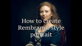 How to Retouching in Photoshop to create Rembrandt look on portrait
