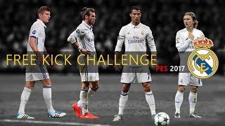 Free kick Challenge #2 | Ronaldo, Bale, Modric & Kroos | PES 2017