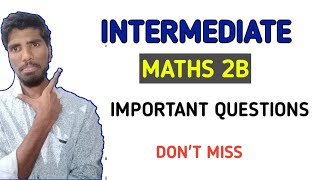 Download Inter Second Year Imp Questions Clip Videos