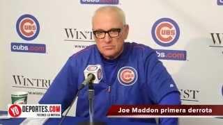 Primera derrota Joe Maddon reacciona