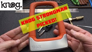 (1448) Knog Strongman Disc Detainer Bike Lock Picked Open