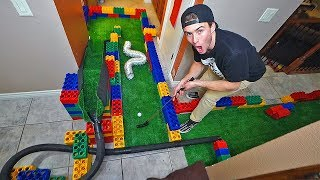Homemade indoor MINI GOLF course!