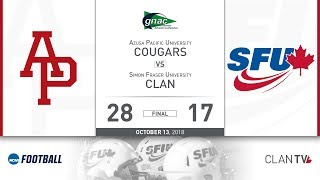 SFU Football vs. APU - October 13, 2018