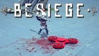 Besiege Creations! - Fidget Spinner, Floating Island, Vacuum Tank, and More! - Besiege Gameplay