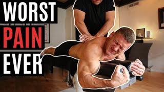 Bodybuilders get their BACKS CRACKED *Worst Pain Ever* ft. David Laid