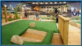 I'VE NEVER SEEN A MINI GOLF COURSE LIKE THIS BEFORE!