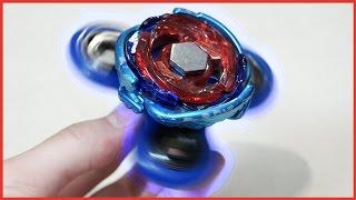 FIDGET SPINNER + BEYBLADE Battling Modification: BEST Custom Hand Spinner!!