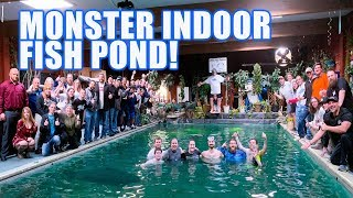 Indoor Pond Reveal for BIG FISH: Ohio Fish Rescue