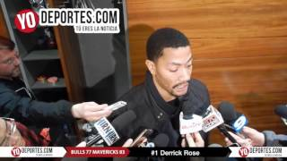 Derrick Rose Chicago Bulls vs Dallas Mavericks 77 83