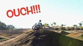 COMING UP SHORT ON A SUPERCROSS TRACK!!! Big ride day!