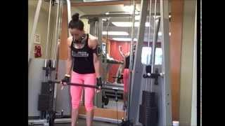Hotel Workout- Cable Bicep Curl for tank top worthy arms