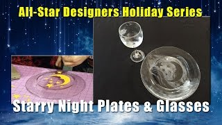 All-Star Designers Holiday Series: Starry Nights Plates & Glasses