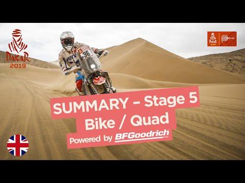 Summary - Bike/Quad - Stage 5 (Moquegua / Arequipa) - Dakar 2019