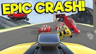 CRASHING & RACING ON NEW LEVELS! - Crash Wheels Gameplay Update - Physics Based Destruction