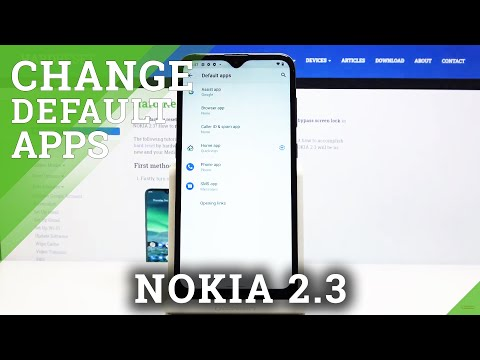 How to Set Up Default Browser in NOKIA 2.3 - Apps Settings